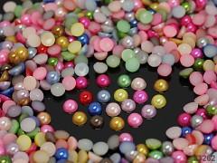 Kabošonky perleťové 4mm MIX, bal. 2g