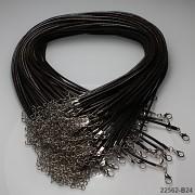 Šňůrka vosk. náhrdelník HNĚDÁ, 1ks