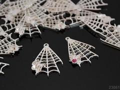 Přívěsek stříbrný pavučinka s pavoučkem, á 1ks