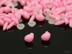 Růžové bezpečnostní čumáčky 10mm růžové nosy na výrobu hraček panenek, bal. 5ks