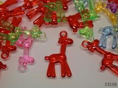 Pestrobarevný MIX korálky přívěšky žirafy bal. 5ks