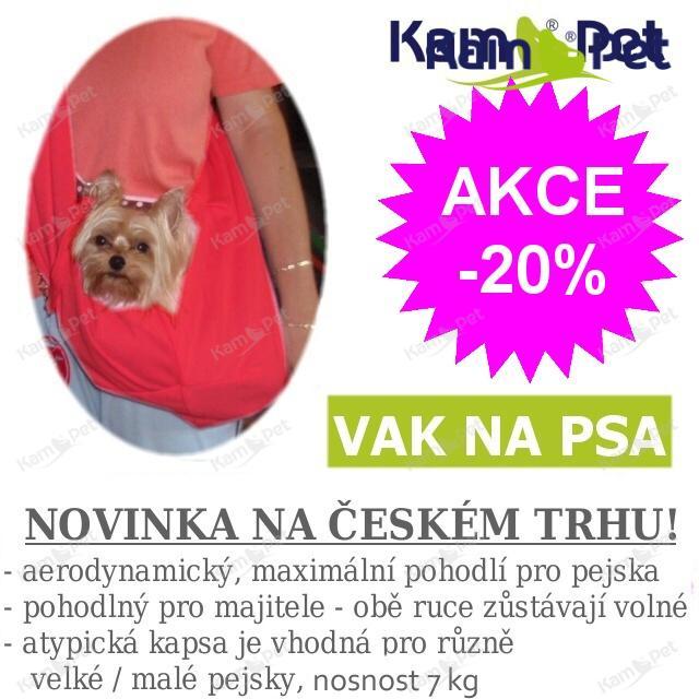 Vak na psa - na nošení psa ČERVENÝ