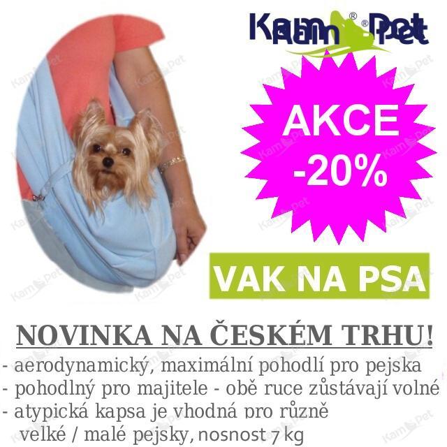 Vak na psa - na nošení psa SVĚTLE MODRÝ