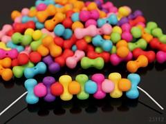Pestrobarevný MIX korálky farfale frost 17/9 bal. 10ks