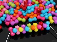 Pestrobarevný MIX korálky farfale 17/9 bal. 10ks