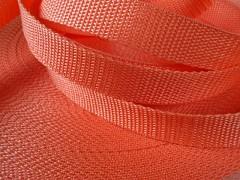 Popruh polypropylénový šíře 20mm ORANŽOVÝ, á 1m