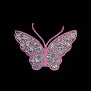 Nažehlovačka motýl PVC růžový