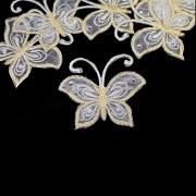 Nažehlovačka motýl SMETANOVÝ