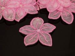 RŮŽOVÁ květina nažehlovačka kytka růžová