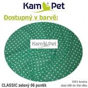 Polohovací lehátko č. 2 KamPet Classic puntík 06 zelený