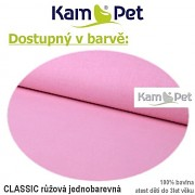 Polohovací lehátko č. 2 KamPet Classic růžový