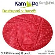 Polohovací lehátko č. 2 KamPet Classic puntík mikro červený