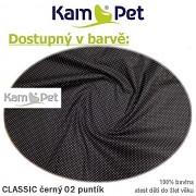 Polohovací lehátko č. 2 KamPet Classic puntík mikro černý