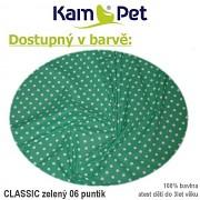 Sedací vak KamPet Sprite 110 Classic puntík 06 zelený