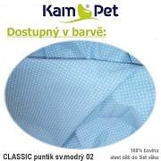 Sedací vak KamPet Sprite 110 Classic puntík mikro sv.modrý