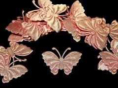 LOSOVÝ motýlek ozdoba saténová, bal. 5ks