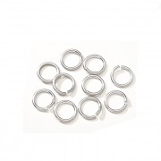 Bižu kroužky jednoduché 5/0.7mm STŘÍBRNÉ, bal. 2.3g
