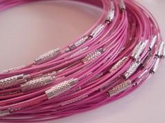 Obruč lanko - náhrdelník  RŮŽOVÉ