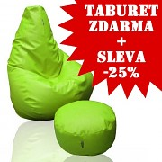 25% sleva sedací vak Beanbag 90 KamPet Comfort ekokůže + taburet zdarma