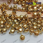 Zlaté rolničky 11mm  vánoční ozdoba dekorace,  balení 10ks