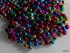 Barevné rolničky 6mm  vánoční ozdoba dekorace balení 10ks