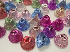 Barevné zvonečky vánoční ozdoba dekorace,  balení 5ks