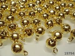 Zlaté rolničky 8mm  vánoční ozdoba dekorace, balení 10ks