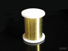 Zlatý bižuterní drát 0,3mm snadno tvarovatelný drát, cívka 10m