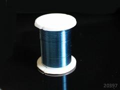 Tyrkysový bižuterní drát 0,3mm snadno tvarovatelný drát, cívka 10m