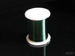Zelený tmavě bižuterní drát 0,3mm snadno tvarovatelný drát, cívka 10m
