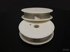 Stříbrný bižuterní drát 0,4mm snadno tvarovatelný drát, cívka 15m