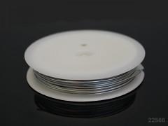 Stříbrný bižuterní drát 1mm snadno tvarovatelný drát, cívka 2,5m