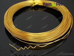 Zlatý bižuterní drát hliníkový drát 1mm snadno tvarovatelný drát