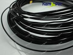 Černý bižuterní drát hliníkový drát 1,5mm, á 1m