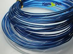 Modrý bižuterní drát hliníkový drát 1,5mm