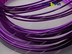 Fialový bižuterní drát hliníkový drát 1,5mm