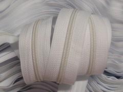 Bílý zip nekonečný zipová páska metráž zipu