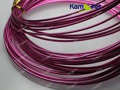 Růžový bižuterní drát hliníkový drát 1,5mm