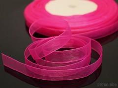 Růžová cyklám stuha organzová 10mm organza stužka magenta