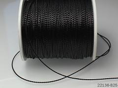 Lurexová šňůrka 1mm ČERNÁ, á 1m